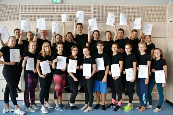Absolventen der Minitrainerausbildung